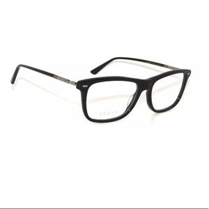 Gucci Glasses 0519O Black Frame with Clear Lens
